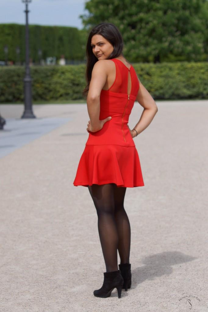 La robe courte évasée